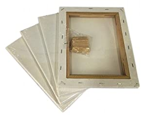 "Lot 4 Blank Artist Canvas 20x30"" Framed Pre-stretched Cotton Painting Set/pack"