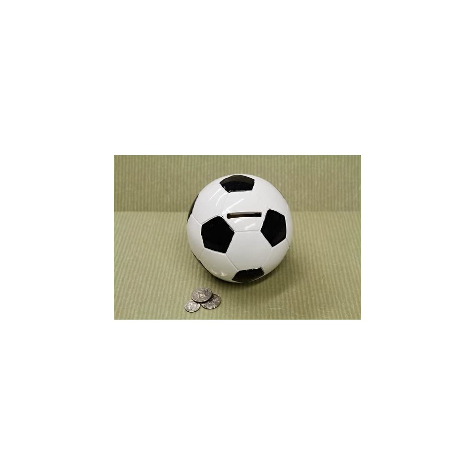Soccer ball sports themed coin piggy bank for boys men toys games - Coin banks for boys ...