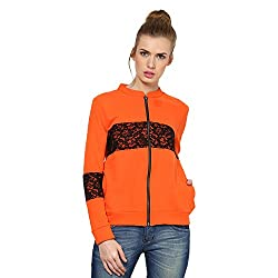Kaxiaa Blended Orange Sweat Shirt For Women (Size-Xx-Large)