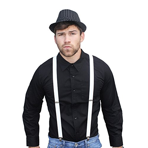 HDE Men's Adult Halloween Mobster Pinstripe Gangster Costume