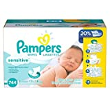 Changing your baby can be one of the most loving moments of the day. With Pampers Sensitive wipes unique Softgrip Texture your baby will enjoy less wiping for more gentle cleaning. They are clinically proven mild, dermatologist-tested, hypoallergenic...