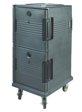 Insulated Food Pan Cart, Tall (2 Compartment) for Hot or Cold Food