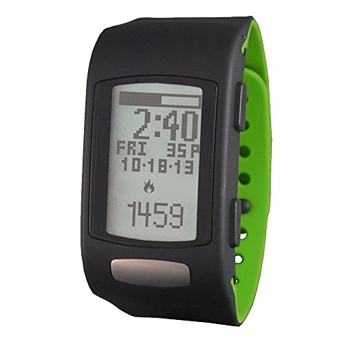 LifeTrak Move C300 24-hour Heart Rate Watch, Black/Woodland Green