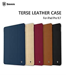FAIRBUNNY Original Brand Baseus Smart Leather Cover for iPad Pro 9.7 inch Tablet Case With Auto Sleep/Wake Up -BROWN