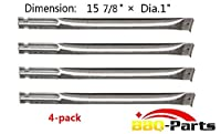 bbq-parts SBE591 (4-pack) Replacement Straight Stainless Steel Pipe Burner for Charbroil, Charmglow, Sears Kenmore, Centro and Other Grills (15 7/8 from bbq-parts