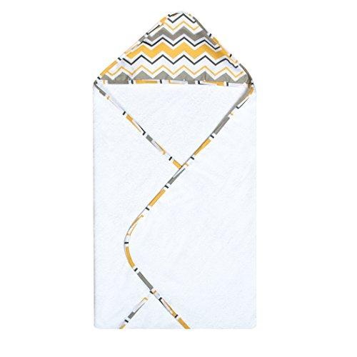 Trend Lab Buttercup Zigzag Bouquet Hooded Towel