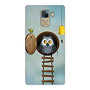 Special Raining Leader Owl Back Case Cover for Huawei Honor 7
