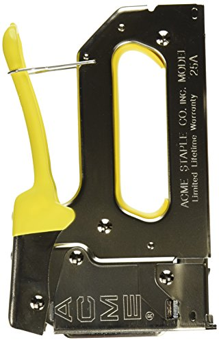 Acme Staple 654025B 25A Staple Gun with Bottom-Load Magazine Crown, 1/4″