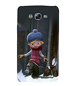 printtech Cartoon Boy Back Case Cover for Samsung Galaxy Core 2 G355H