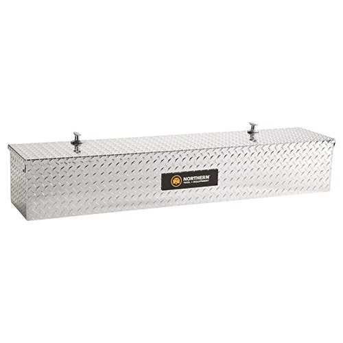 Northern Tool + Equipment Diamond Plate, A=48 1/2in.B=12 1/2in.; C=10 1/2in Aluminum Flush-Mount Side-Bin Truck Box (Flushmount Toolbox compare prices)