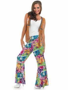 Ladies Hippie Patterned Flares, retro design