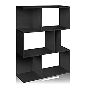 Way Basics zBoard Eco 3-Shelf Madison Bookcase and Storage, Black