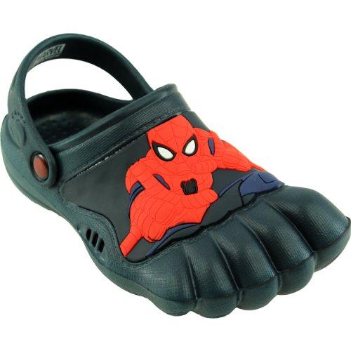 Spider-Man Kids Navy Silly Feet Clogs (2/3 M US Little Kid)