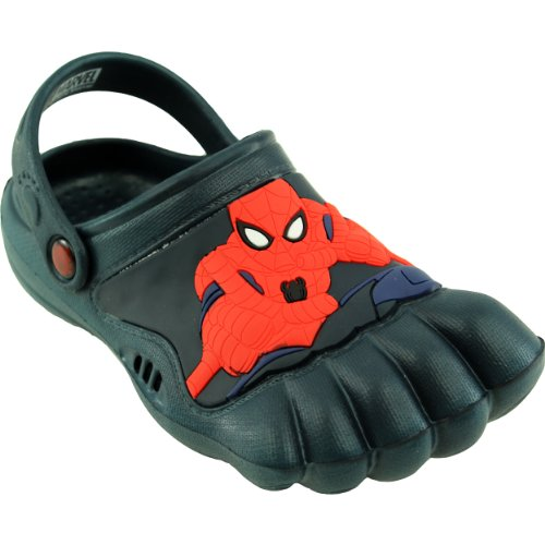 Spider-Man Kids Navy Silly Feet Clogs (13/1 M