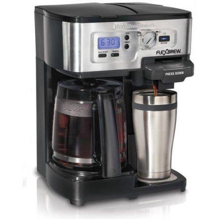 Hamilton Beach Silver/Black 12-Cup 2-Way FlexBrew Coffee Maker (Hamilton Coffee Maker 2 Way compare prices)