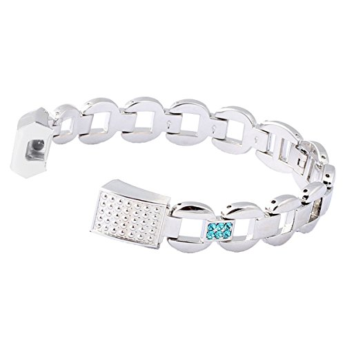 bayite Metal Bands for Fitbit Alta Silver with Blue Rhinestone Style E (Warranty Exchange Return compare prices)