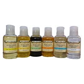 Neno Natural's 6 Best Oils for Hair (& Skin): Argan oil, Avocado oil, Castor oil, Coconut oil, Jojoba oil, Sweet Almond oil LIMITED EDITION