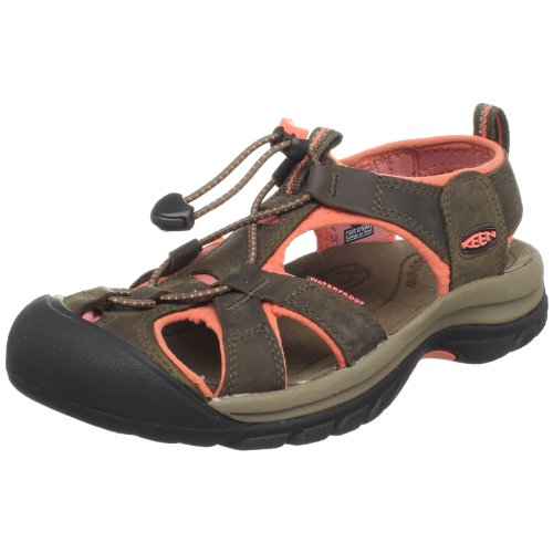Keen Women's Venice Sandal,Chocolate Chip/Living Coral,9 M US