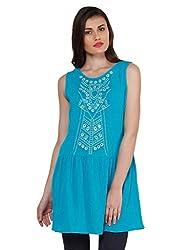 Oxolloxo Women Blue Embellished Tunic