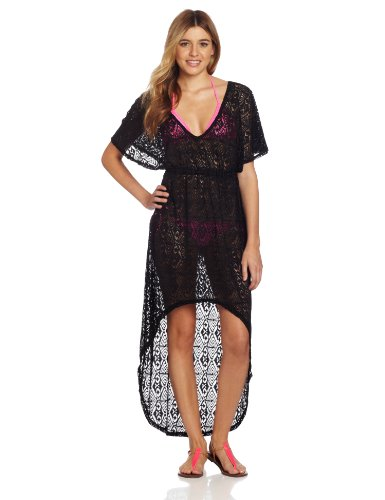 Roxy Juniors Love and Sunshine Maxi Cover Up, True Black, Medium