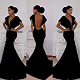 Leshery New Sexy Women Sleeveless Prom Ball Cocktail Party Dress Formal Evening Gown (M)