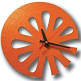 recycled orange wall clock