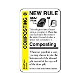 Fluxx Composting Promo Game Card (NEW RULE) Works with All Fluxx Games! [Toy]