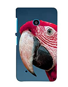 Fuson Premium Cute Macaw Printed Hard Plastic Back Case Cover for Nokia Lumia 530