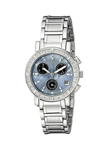 Invicta Wildflower Women's Quartz Watch with Mother Of Pearl Dial  Chronograph display on Silver Stainless Steel Bracelet 0610