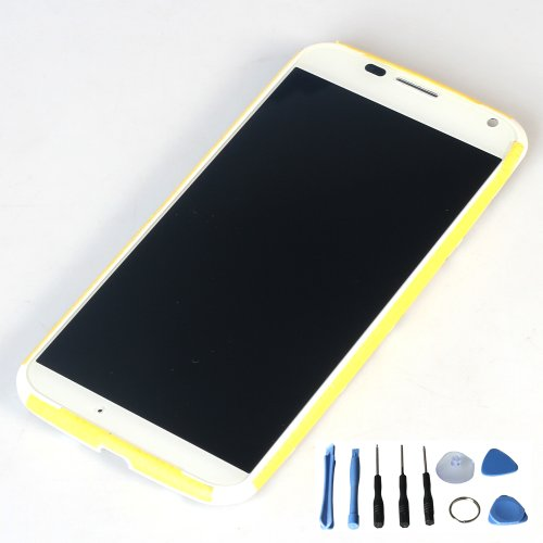 Lcd Display Touch Screen Digitizer Assembly For Motorola Moto X Xt1060 Xt1058 With Free Tools (White With Frame)