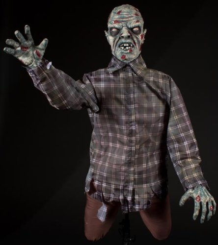 halloween animatronicshalloween horror scary zombie dead one arm wallbreaker animatronic prop