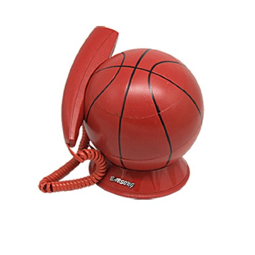 Gino Unique Decorative Corded RJ11 Basketball Telephone