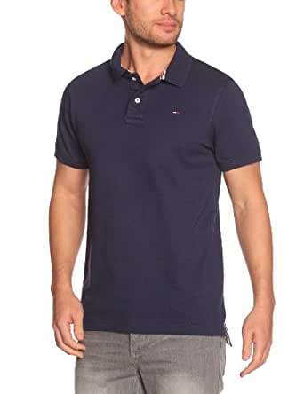 Hilfiger Denim - Pilot Flag - Polo - Uni - Homme -  Bleu (Peacoat) FR:Medium (Taille fabricant: Small)