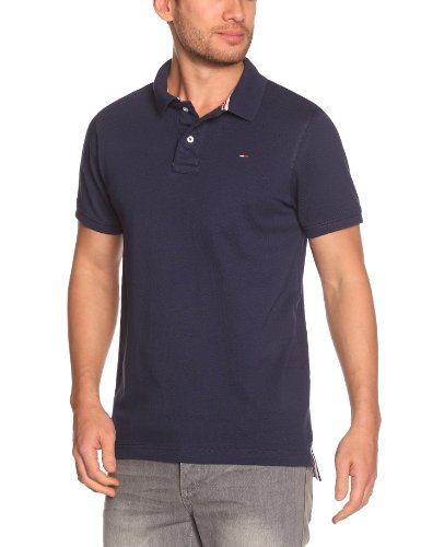 Tommy Hilfiger Pilot Polo Flag Shortsleeve KIR409 Polo Men's T-Shirt Peacoat Medium
