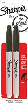 Sharpie Fine Point Permanent Markers 2 Black Markers 30162PP
