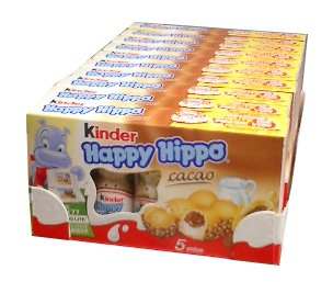 Kinder Happy Hippo - Cocoa, CASE, 10x(20.7g x 5)