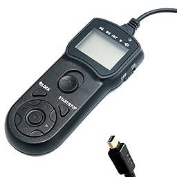 JJC TMJ LCD Timer Remote Control for Olympus SP-510 UZ, SP-550 UZ, SP-560 UZ, SP-565 UZ, SP-570 UZ, SP-590 UZ, E400, E410, E420, E450, E510, E520, E600, E620, E30, E-P1, E-P2, E-PL2, XZ-1