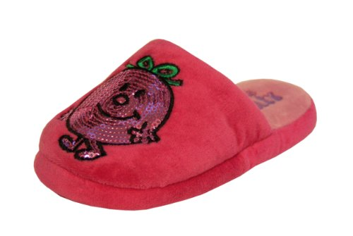 Girls Pink Little Miss Naughty Slippers Size 10 Infant Kids Style 003