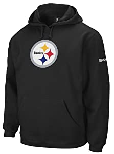 NFL Men's Pittsburgh Steelers Black End Zone Playbook Hood - 8425A214Apstr2 (Black, Small)