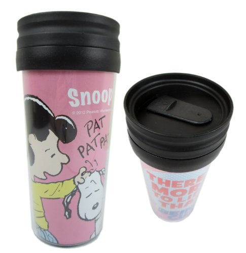 Pink Lucy And Snoopy Travel Coffee Cup - Travel Coffee Mug