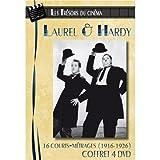 echange, troc Les Trésors du cinéma : Laurel & Hardy - Volume 1 à 4 - 16 courts-métrages (1916-1926) - Coffret 4 DVD
