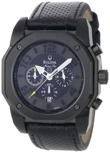 Bulova Men's 98B151 Marine Star Black on Black Color Scheme Watch