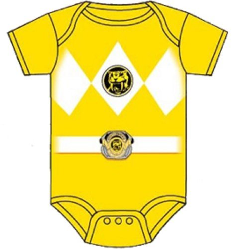 Power Rangers Baby Ranger Costume Romper Onesie (12-18 Months, Yellow) Color: Yellow Size: 12-18 Months Model: (Power Ranger Model compare prices)