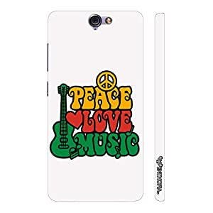 HTC One A9 Peace Love Music designer mobile hard shell case by Enthopia