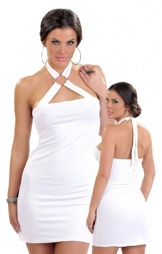 Bang! Halter Dress with Rings Clubwear