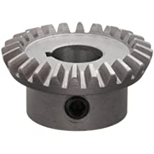 "Boston Gear HL148YG Bevel Gear, 2:1 Ratio, 0.500"" Bore, 16 Pitch, 24 Teeth, Steel"