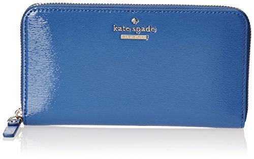 Kate Spade New York Cedar Street Patent Lacey Wallet, Orbit Blue, One Size