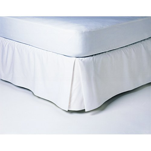 450tc 100% Cotton Solid White Queen Pleated Tailored Bed Skirt with 15 Inches Drop and Split Corners By Sheetsnthings (Split Corner compare prices)