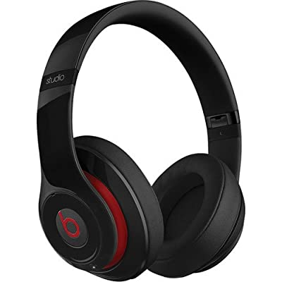 Beats by Dr. Dre Studio Over-Ear Headphones (Second Generation, Black) Bundle with Beats Cable with Microphone and Custom Designed Zorro Sounds Cleaning Cloth