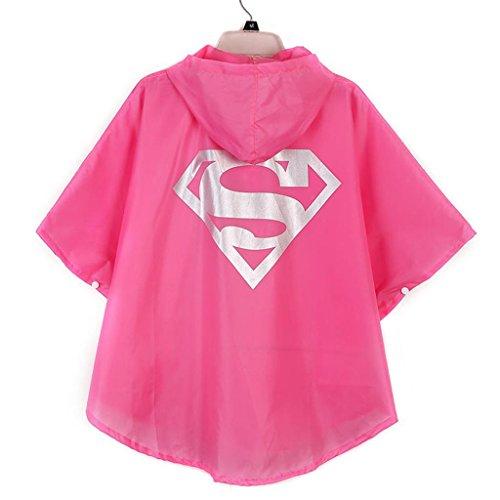 [Flowerbb superhero superman supergirlkids costume raincoat rainsuit YY05] (Superboy Costume Cosplay)